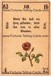 Antique Fortune Telling Cards, Silent love