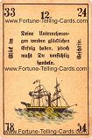 Antique Fortune Telling Cards, Fortune in business