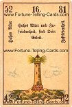 Antique Fortune Telling Cards, Old age, satisfaction