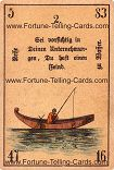Antique Fortune Telling Cards, A journey on water