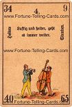 Antique Fortune Telling Cards, Cheerful hours