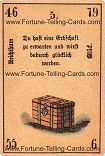 Antique Fortune Telling Cards, Wealth, happiness